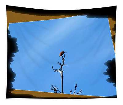 Hummingbird Optical Zoom Tapestry