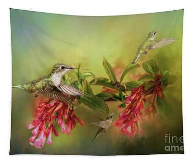 Hummingbird Paradise Tapestry