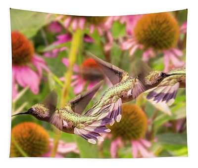 Hummingbirds Autumn Is Near Tapestry