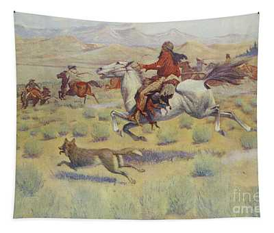 Hunting On The Prairie Tapestry