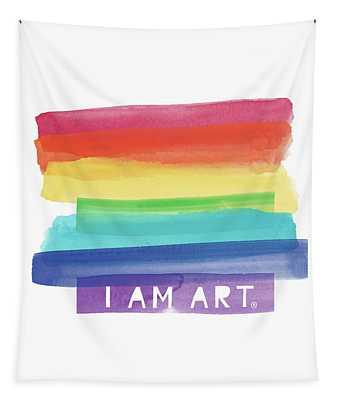 I Am Art Rainbow Stripe- Art By Linda Woods Tapestry
