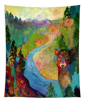 I Am The Mountain Stream Tapestry