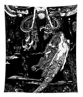 I Know What You Want Said The Sea Witch, Illustration For The Little Mermaid  Tapestry