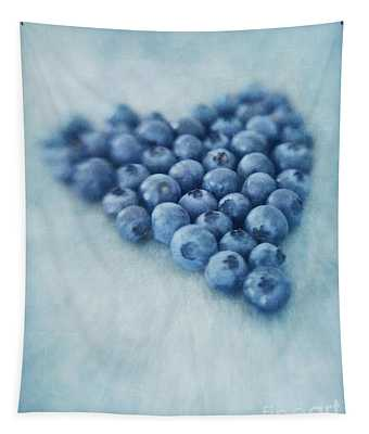 I Love Blueberries Tapestry