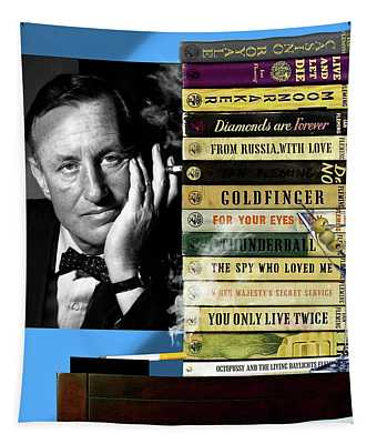 Ian Fleming, All Originals, 14 Novels Collection, James Bond Tapestry