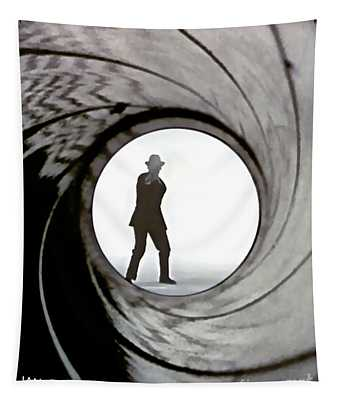 Ian Flemings, Dr. No, James Bond, Gun Barrel Sequence Tapestry