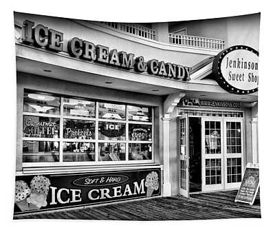 Ice Cream And Candy Shop At The Boardwalk - Jersey Shore Tapestry
