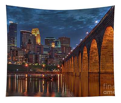 Iconic Minneapolis Stone Arch Bridge Tapestry