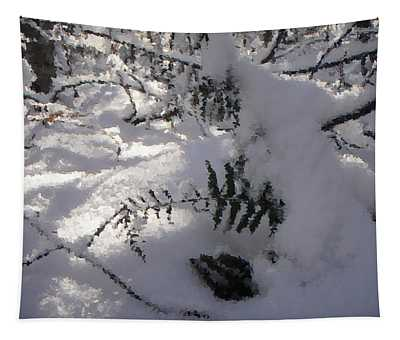 Icy Fern Tapestry