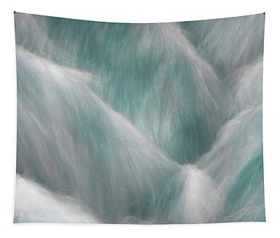 Icy Water Flow Abstract 1 Tapestry