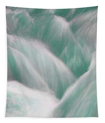 Icy Water Flow Abstract 3 Tapestry