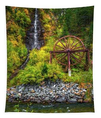 Idaho Springs Water Wheel Tapestry