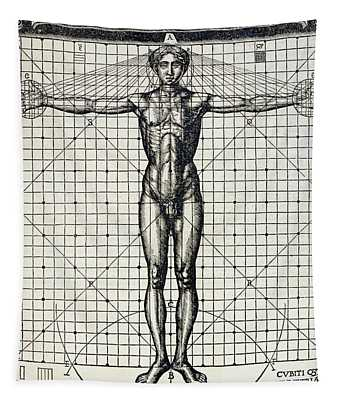 Ideal Proportions Based On The Human Body Tapestry