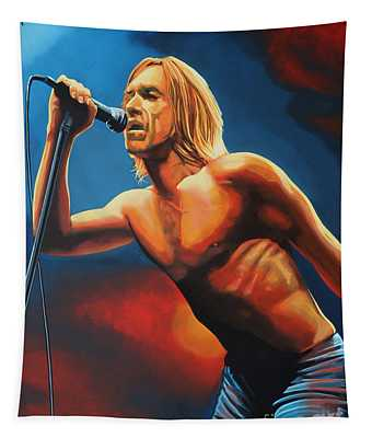 Iggy Pop Painting Tapestry
