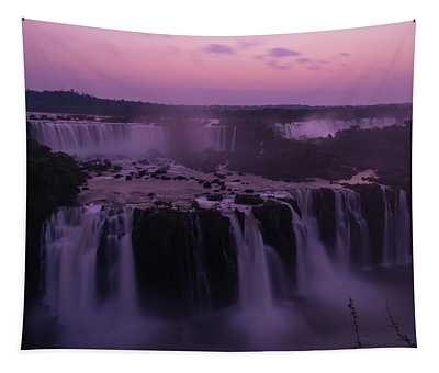 Iguazu Sunset In Violet Tapestry
