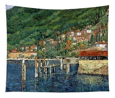 il porto di Bellano Tapestry