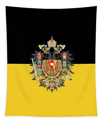 Habsburg Flag With Imperial Coat Of Arms 1 Tapestry