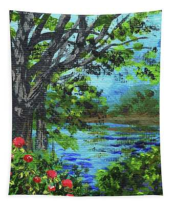 Impressionistic Landscape Iv Tapestry