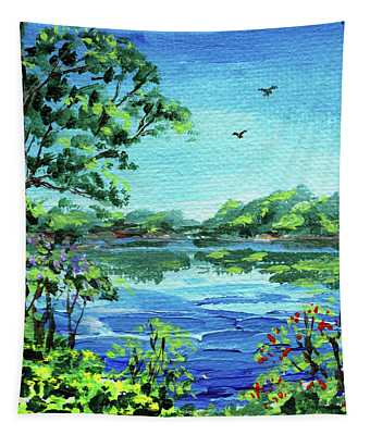 Impressionistic Landscape Number Xxx Tapestry