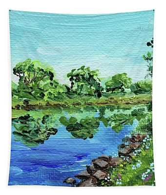 Impressionistic Landscape Xiii Tapestry