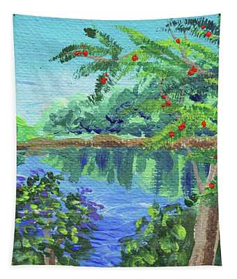 Impressionistic Landscape Xvii Tapestry