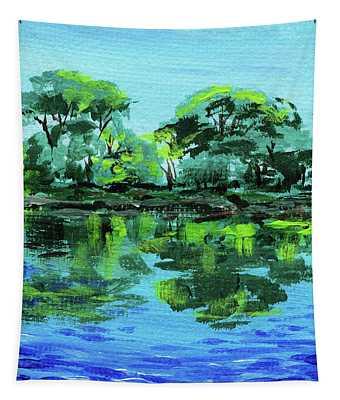 Impressionistic Landscape Xxviii Tapestry
