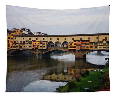 Impressions Of Florence - Ponte Vecchio Autumn Tapestry