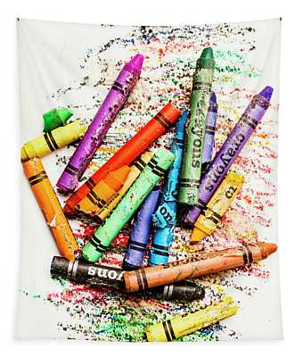 In Colours Of Broken Crayons Tapestry