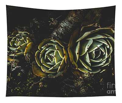 In Dark Bloom Tapestry