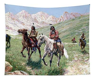 In The Cheyenne Country Tapestry