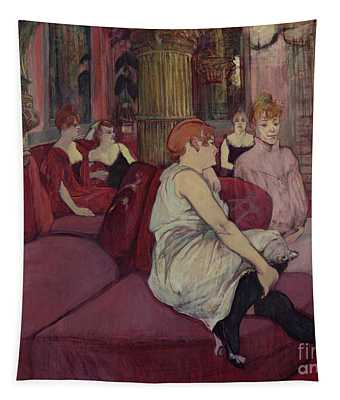 In The Salon At The Rue Des Moulins Tapestry