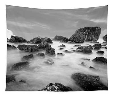 Indian Beach, Ecola State Park, Oregon, In Black And White Tapestry