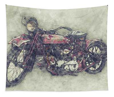 Indian Chief 1 - 1922 - Vintage Motorcycle Poster - Automotive Art Tapestry