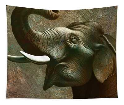 Indian Elephant 2 Tapestry