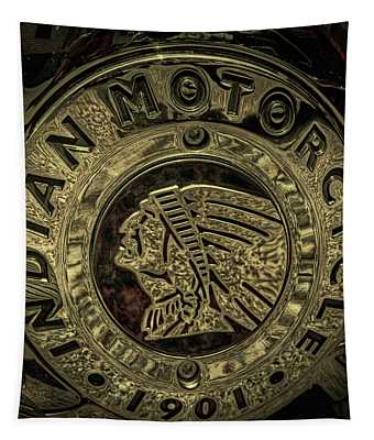 Indian Motorcycle Logo Tapestry