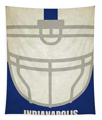 Indianapolis Colts Helmet Art Tapestry