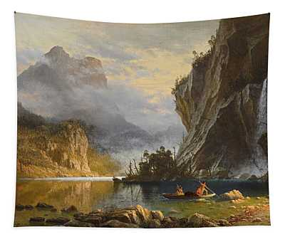 Indians Spear Fishing, 1862 Tapestry