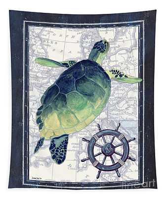 Indigo Maritime 1 Tapestry