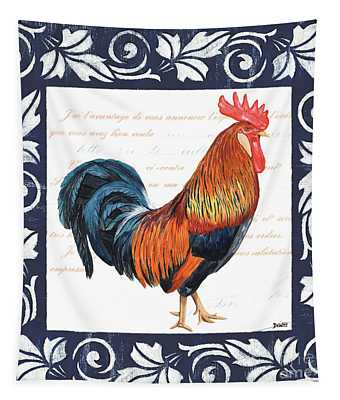 Indigo Rooster 1 Tapestry