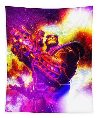 Tapestry featuring the digital art Infinity Gauntlet by Helge