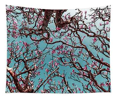 Infrared Frangipani Tree Tapestry