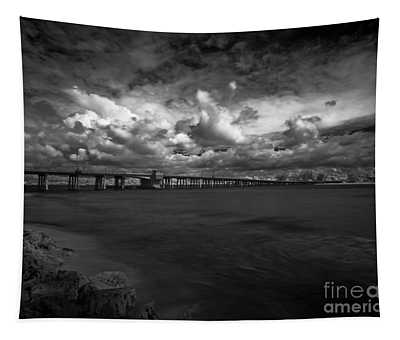 Infrared Longboat Pass Bridge Tapestry