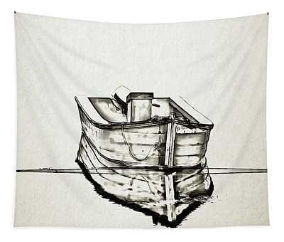 Ink Boat Tapestry