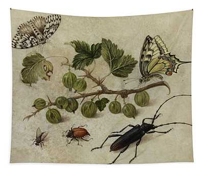 Insects And Butterfly Tapestry