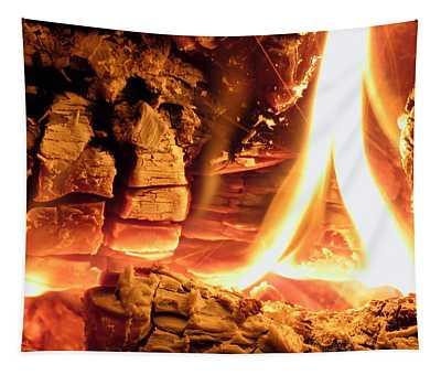 Inside Fire Tapestry