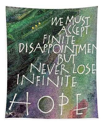 Inspirational Saying Hope Tapestry