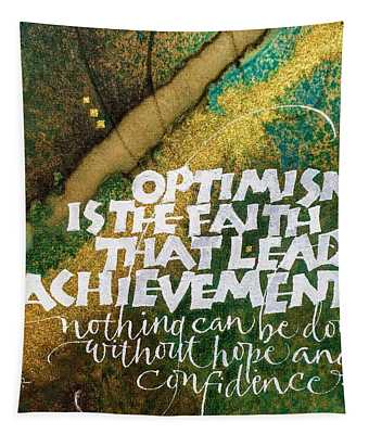 Inspirational Saying Optimism Tapestry