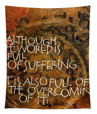 Inspirational Saying Overcome Tapestry
