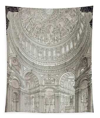 Religious Architecture Drawings Wall Tapestries