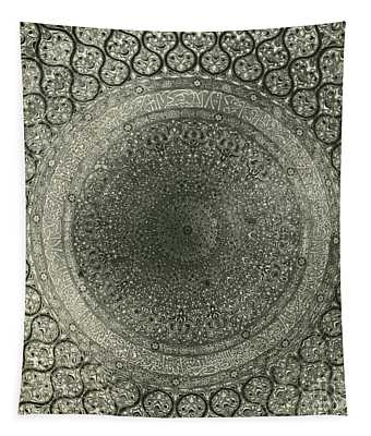 Interior Of The Dome Of The Omar Mosque  Rock Dome, Jerusalem, Israel,  Circa 1900 Tapestry